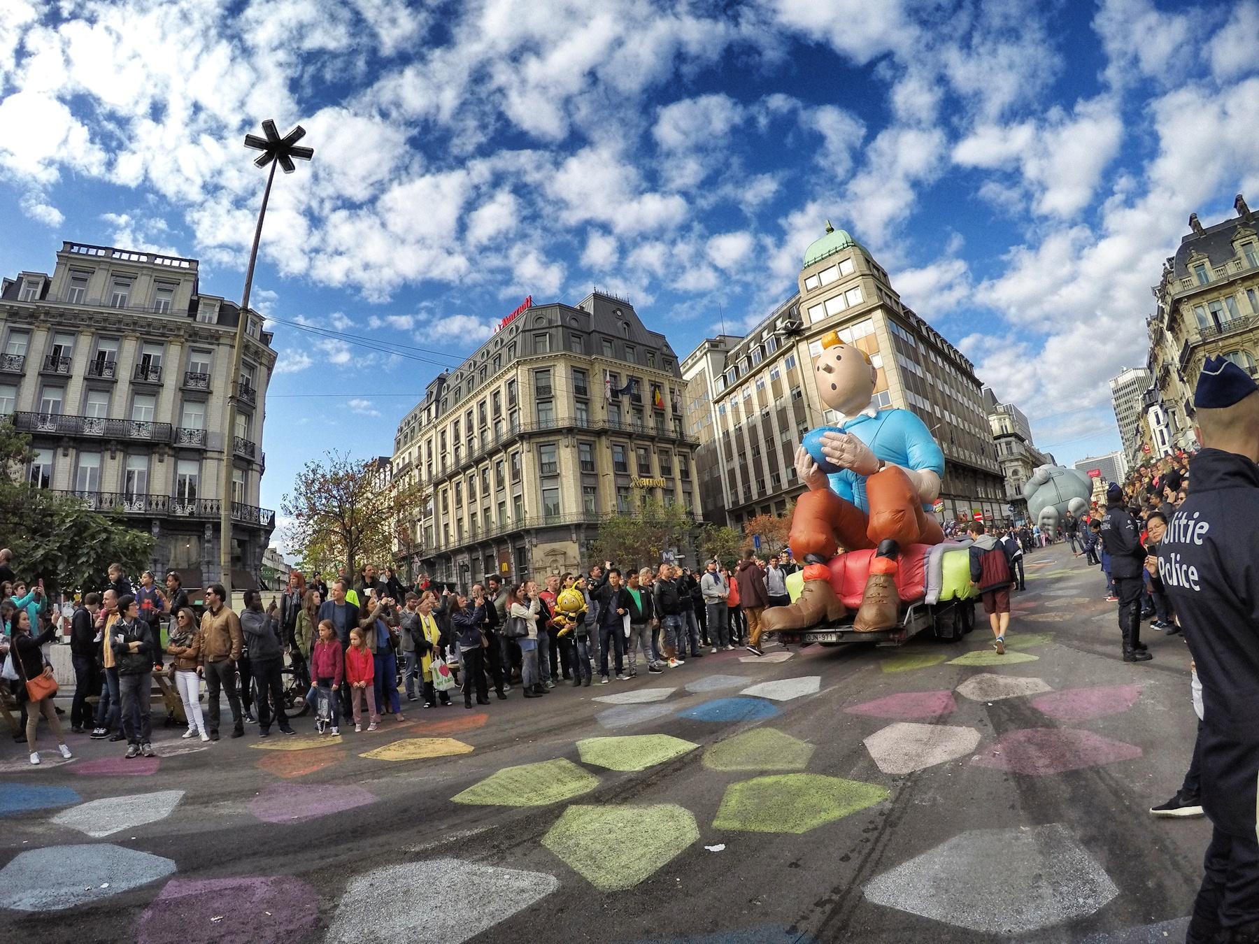 卡通人物大庆典 摄于:布鲁塞尔 来自游记:欧洲小环行-丹麦-德国-荷兰