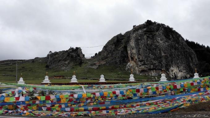 1505海子山4500m远山浓云,1550红草地,1600尊胜塔林,稻城县,1635