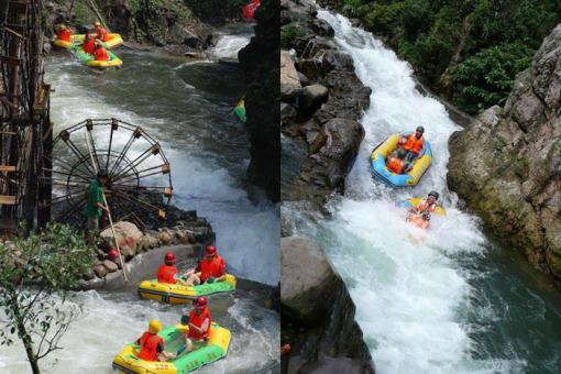以峡谷观光,暗河漂流为主要功能的生态旅游景区.