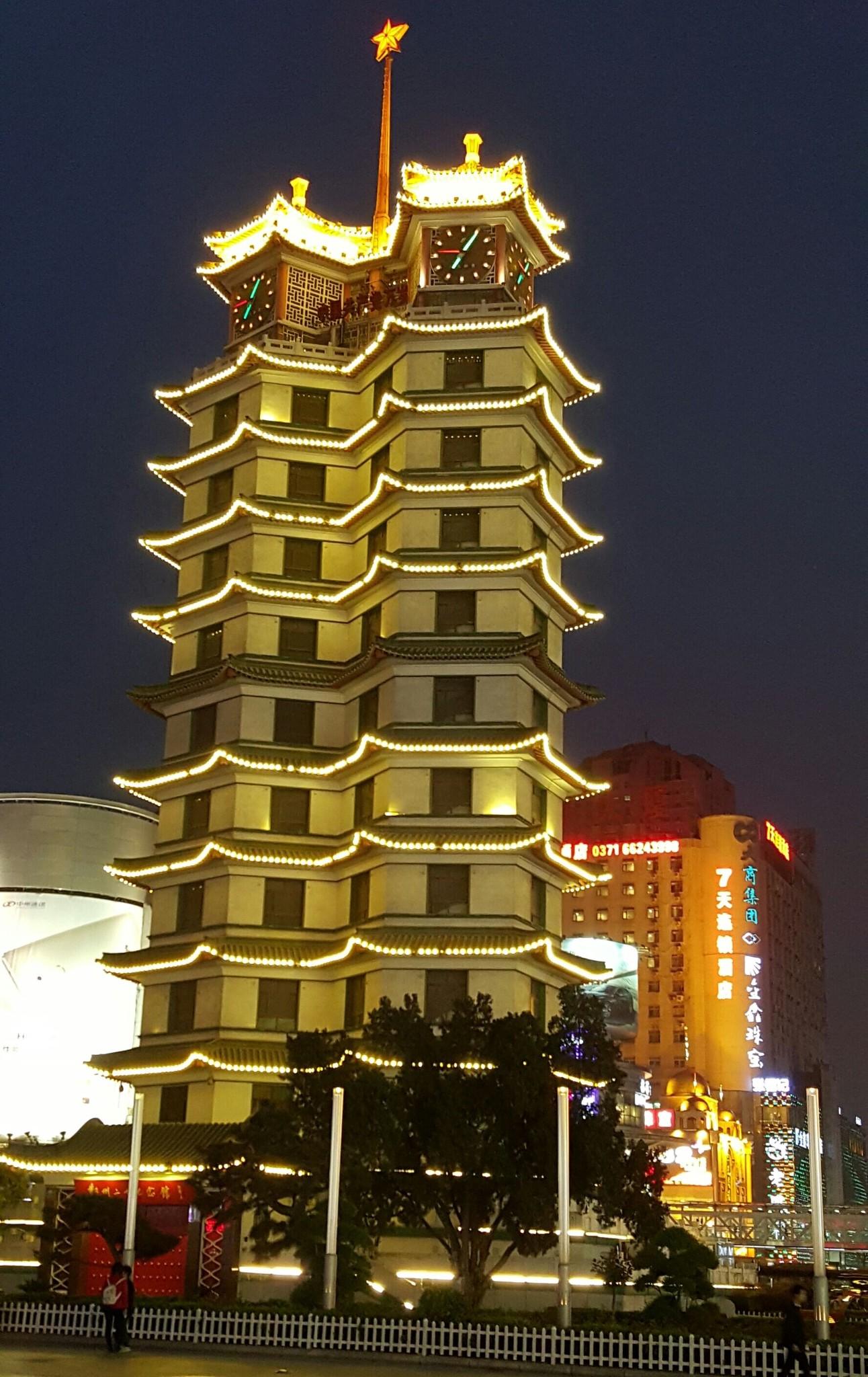二七纪念塔图片